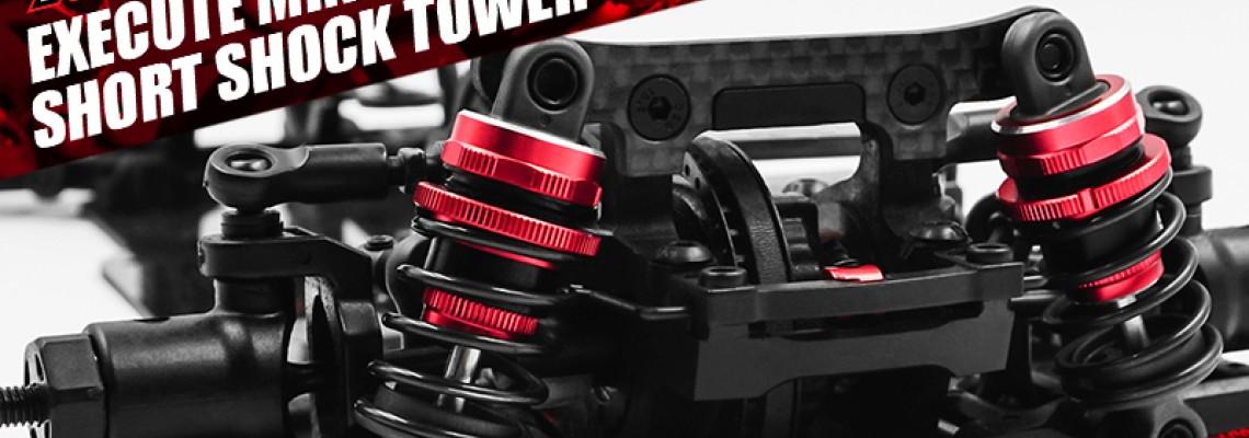 Execute XM1 XM1S FM1S Graphite Short Shock Towers