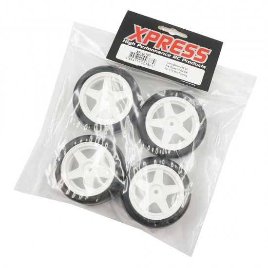 Competition 24X V2 Pre-Glued Wheel Set For 1/10 Mini Touring