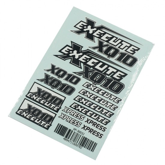 Execute XQ10 Logo Sticker Decal A6 148x105mm