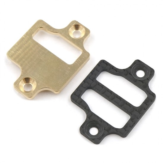 Brass and Graphite Lower Bulkhead Plate Front Rear For XQ10