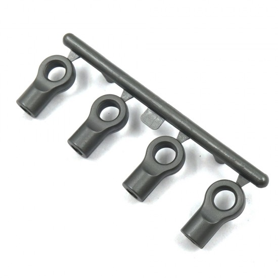 Grey Composite 4.8mm Flat Type Ball End 13mm 4pcs