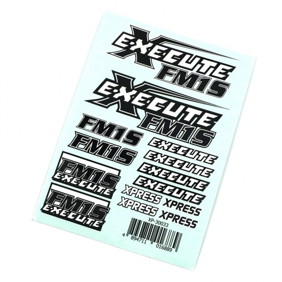 Execute FM1S Logo Sticker Decal A6 148x105mm