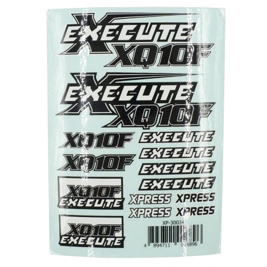Execute XQ10F Logo Sticker Decal A6 148x105mm